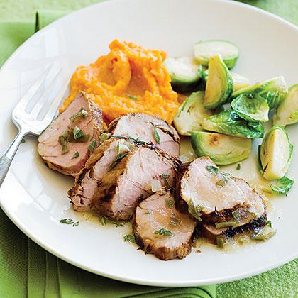 Grilled Pork Tenderloin with Apple Sage Sauce