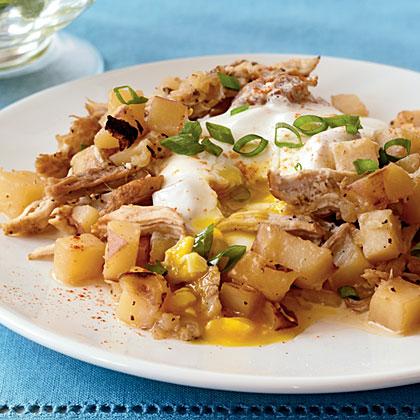 Pork-Potato Hash with Eggs