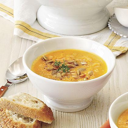 Pumpkin-Acorn Squash Soup