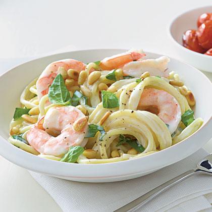 Shrimp and Pine Nut Spaghetti