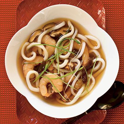 Udon Soup with Shrimp