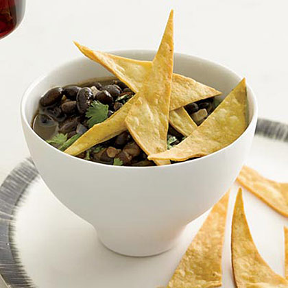 Black Bean Soup with Crispy Tortillas Recipe