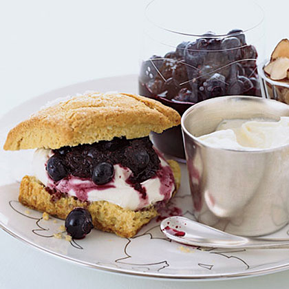 Blueberry-Almond Shortcakes with Crčme Fraîche