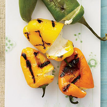 Cheese-Stuffed Grilled PeppersRecipe