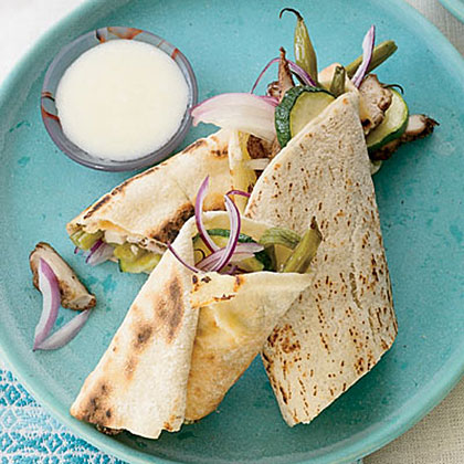 Chicken Shawarma with Green Beans and Zucchini Recipe