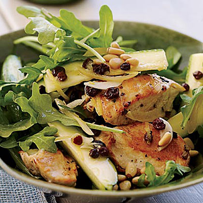 Chicken Salad with Zucchini, Lemon and Pine NutsRecipe