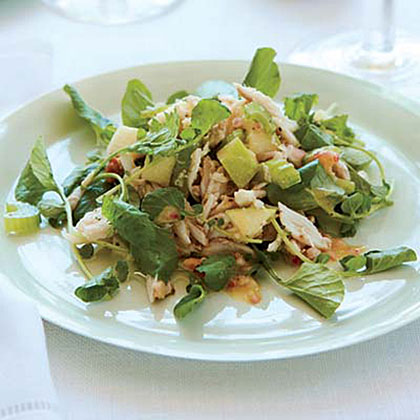 Crab, Apple and Watercress Salad with Walnut Vinaigrette Recipe