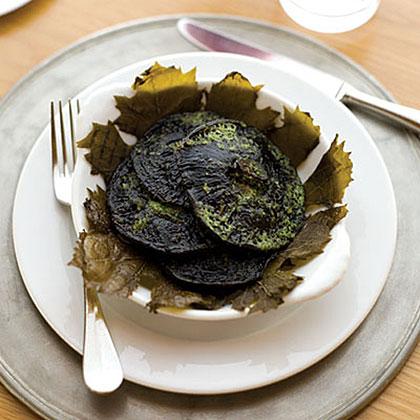 Grilled Portobello Mushrooms with Tarragon-Parsley Butter Recipe