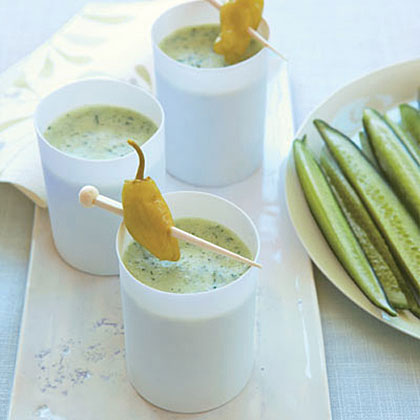 Cucumber-Yogurt Soup with Pepperoncini