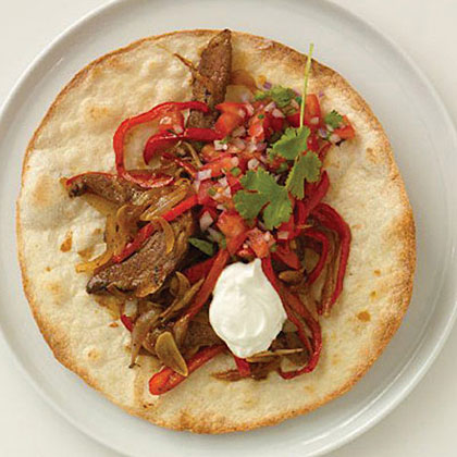Fajitas with Roast Beef Recipe