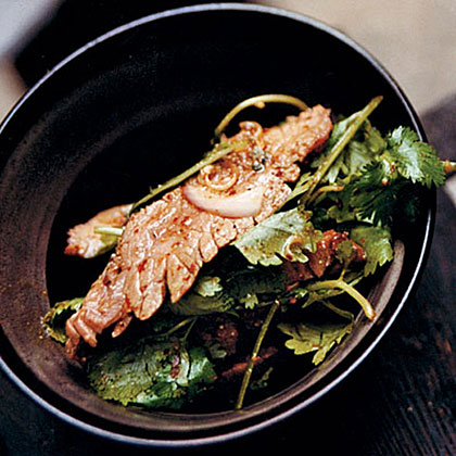 Warm Flank Steak Salad with Mint and CilantroRecipe