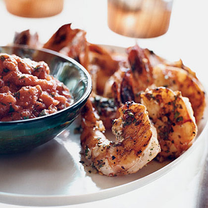Ginger-Garlic Shrimp with Tangy Tomato Sauce