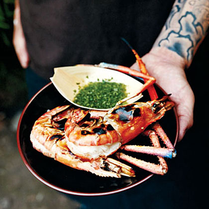 Grilled Quick-Brined Jumbo Shrimp