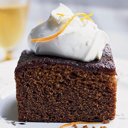 Molasses-Gingerbread Cake with Mascarpone CreamRecipe