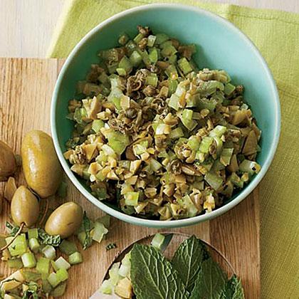 Minty Green Olive-Celery SalsaRecipe
