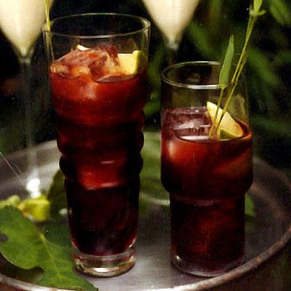Pomegranate Caipirinhas