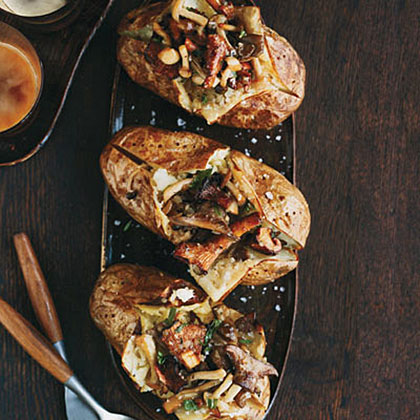 Baked Potatoes with Wild Mushroom Ragů Recipe