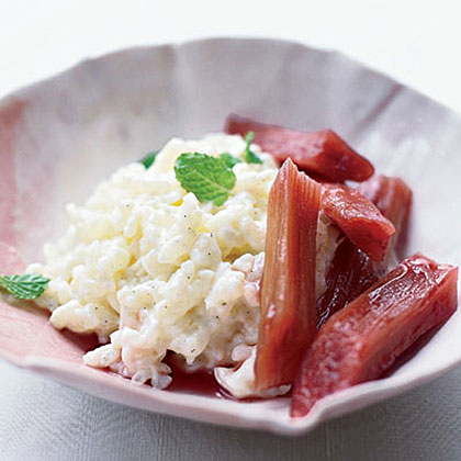 Rice Pudding with Poached RhubarbRecipe