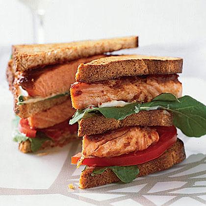 Salmon Club Sandwiches