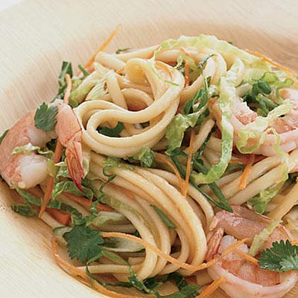 Shrimp and Noodle Salad with Ginger Dressing Recipe