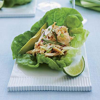 Spicy Asian-Chicken-Salad Lettuce CupsRecipe