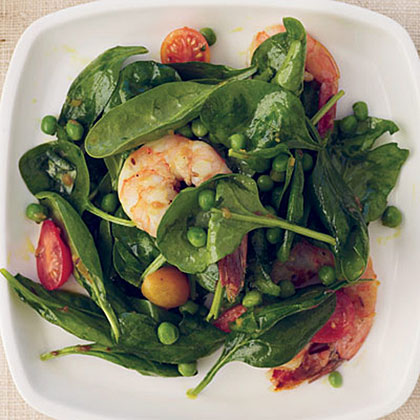 Spinach-and-Shrimp Salad with Chile Dressing Recipe
