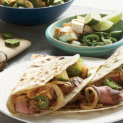 Grilled Steak Tacos with Avocado Salsa