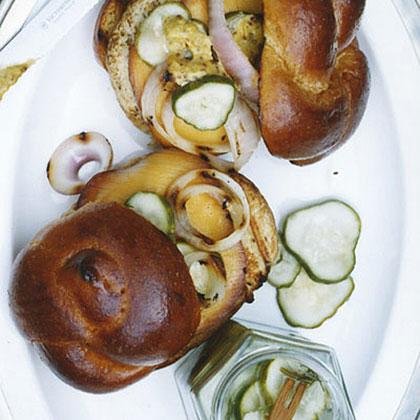Turkey Burgers with Smoked Gouda