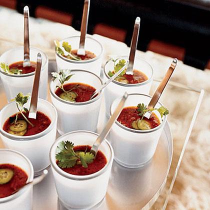 Grilled-Vegetable Gazpacho