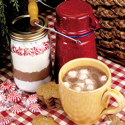 Candy Cane Hot Chocolate Mix RecipeMake a batch of this peppermint-flavored hot cocoa mix to keep on hand for some instant comfort throughout the hectic holiday season.