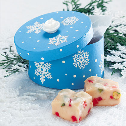 Christmas Butter Fudge RecipeNeed a bunch of little gifts for your friends, neighbors, or teachers? Gift pretty little boxes filled with this colorful butter fudge. Fudge will keep in the refrigerator for up to two weeks.