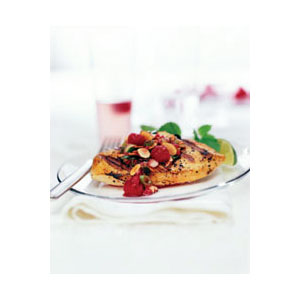 Almond Board Grilled Chicken with Almond and Raspberry Relish Recipes