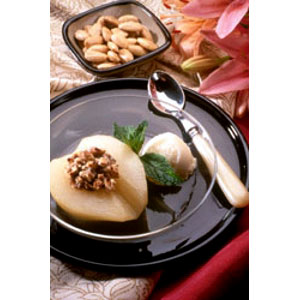 Almond Board Baked Pears Stuffed with Almonds Recipes
