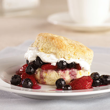 Lemon-Berry Shortcakes