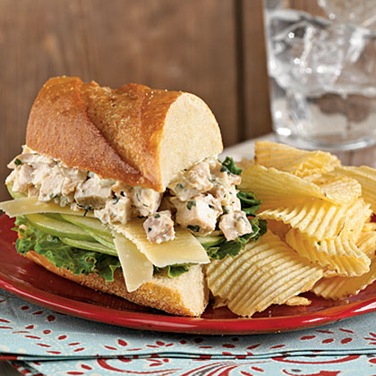 Tarragon Chicken Salad Sandwiches with Apple Recipe