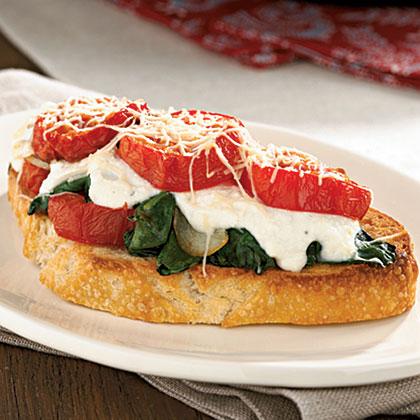 Roasted Tomato-Ricotta BruschettaRecipe