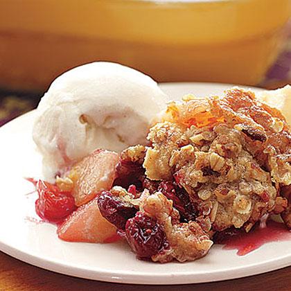 Pear-Apple-Cranberry Crisp Recipe   MyRecipes