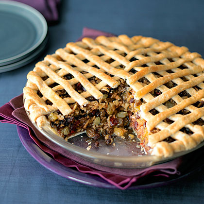 Apple and Dried-Fruit Spice Pie Recipe