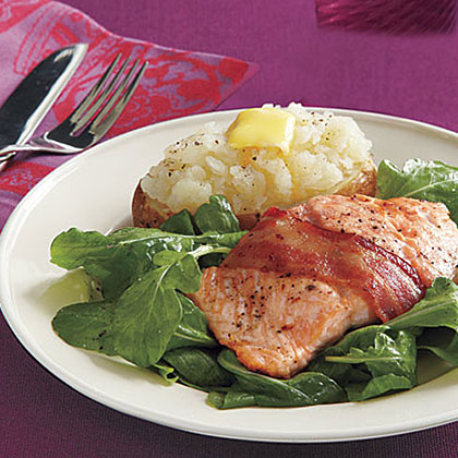 Bacon-Wrapped Salmon