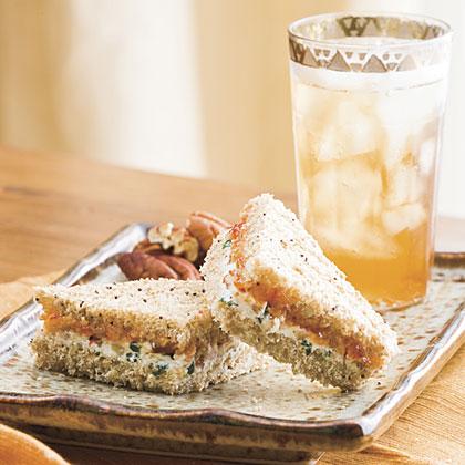 Goat Cheese-Pecan Finger Sandwiches Recipe