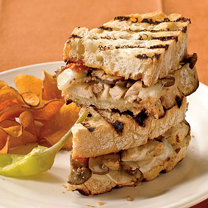 Chicken and Mushroom Panini