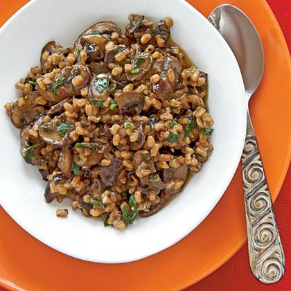 Farro Risotto with Mushrooms Recipe