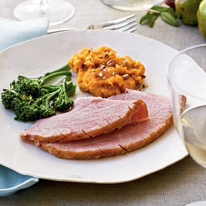 Honey-Coriander Glazed Ham