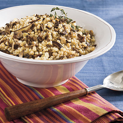Israeli Couscous With Roasted Mushrooms
