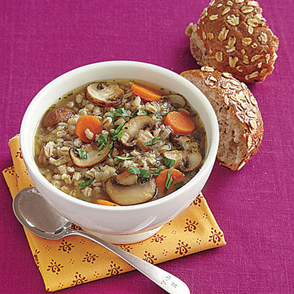 Quick Mushroom-Barley SoupRecipe
