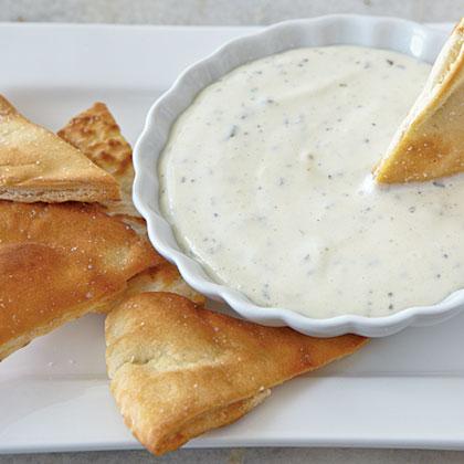 Pita Chips with Goat Cheese DipRecipe