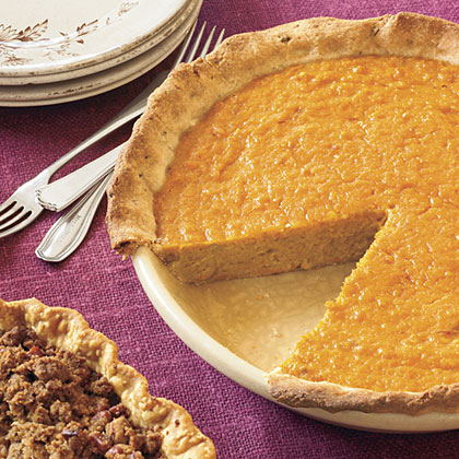 Orange-Sweet Potato Pie With Rosemary-Cornmeal Crust