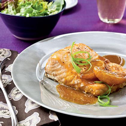 Salmon with Satsuma-Soy Glaze