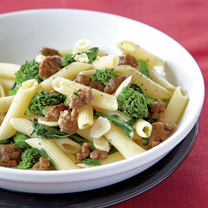 Penne with Sausage, Garlic, and Broccoli Rabe