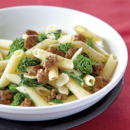 Penne with Sausage, Garlic, and Broccoli RabeRecipe